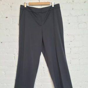 St John Wide Leg Pants Wool Stretch Gray size 12